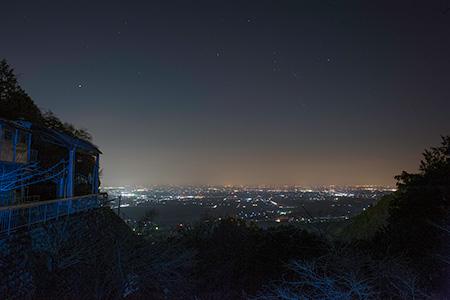 養老の滝の夜景