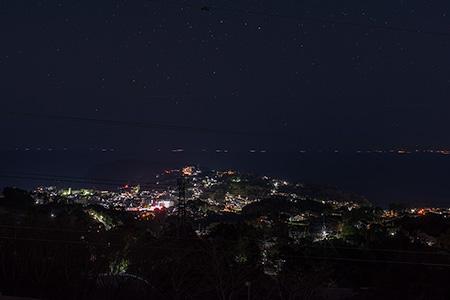 ゆめ公園 (湯河原総合運動公園)の夜景