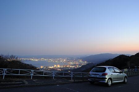夢見ヶ丘 比叡山ドライブウエイの夜景