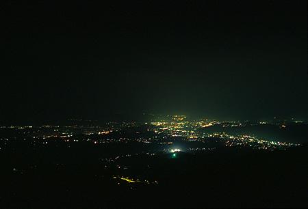 湯の岳の夜景