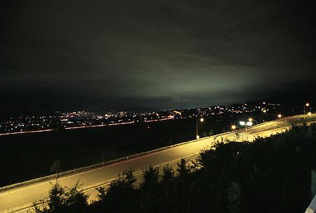 東部湯の丸SAの夜景