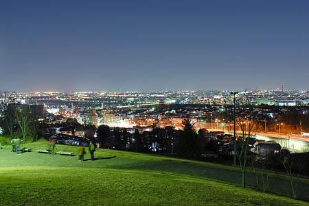ゆうひの丘の夜景