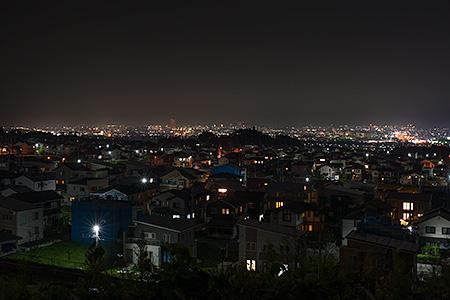 みはらしの丘 展望台の夜景