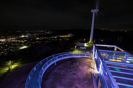 蔵王山展望台の夜景