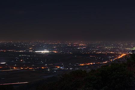 女山史跡森林公園 展望台の夜景